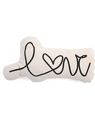 Childwood Canvas Cushion Love Letter, White  - 20 x 10 x 39 cm Cushions