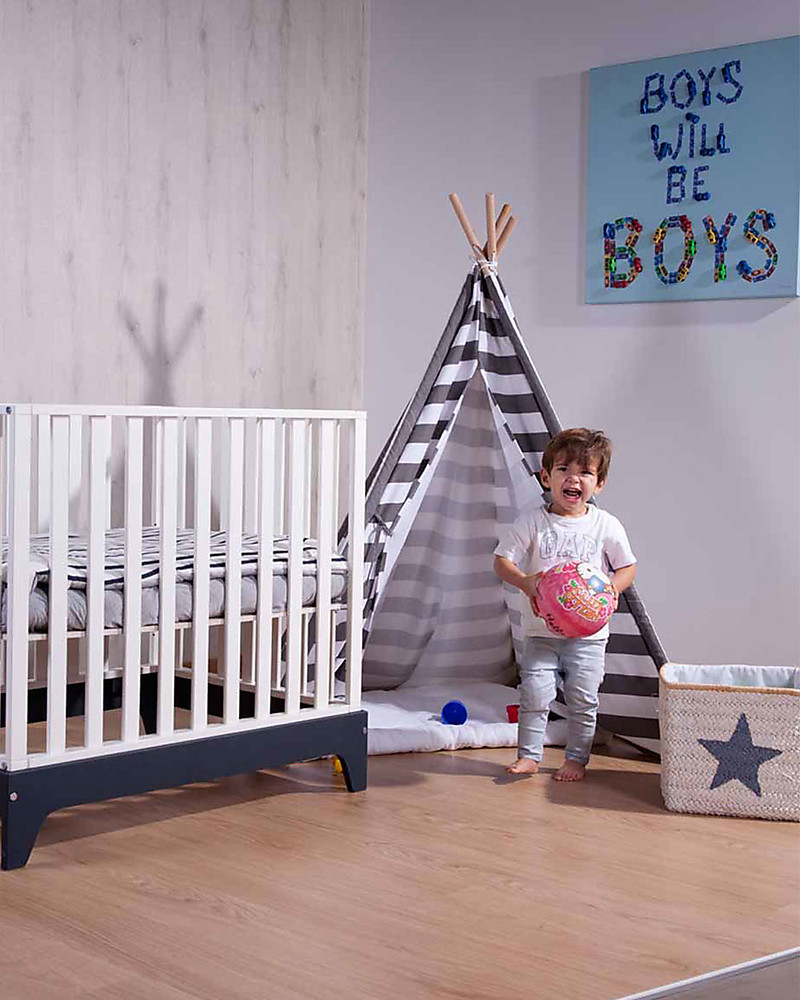 Childwood Canvas Play Tipi Tent White/Grey stripes u2013 Complete with its own storage & Childwood Canvas Play Tipi Tent White/Grey stripes u2013 Complete with ...