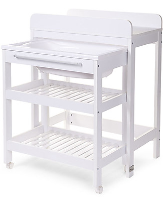 Childwood Changing Table Tub Bucket & Bath, White Changing Tables