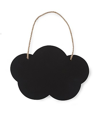 Childwood Cloud Blackboard, Set of 2 - Black and white  Room Decorations