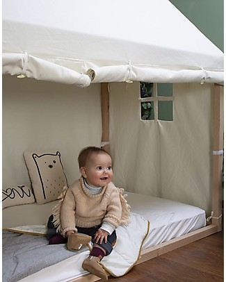 Childwood Cover for Childwood Tipi Bed Frame House, White - 90 x 200 cm Montessori Bed