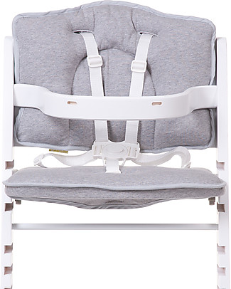 Childwood Cushions for Evolutive High Chair Lambda 2 and 3, Light Grey - 2-pieces set, 100% cotton jersey High Chairs