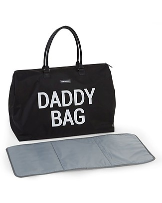 Childwood Daddy Bag, Diaper Bag 55 x 30 x 30 cm, Black - Includes foldable changing mat! Diaper Changing Bags & Accessories