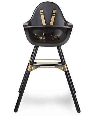 Childwood Evolu 2 Chair, Evolutive High Chair and Kids Chair, Black/Gold - 6 months to 6 years High Chairs