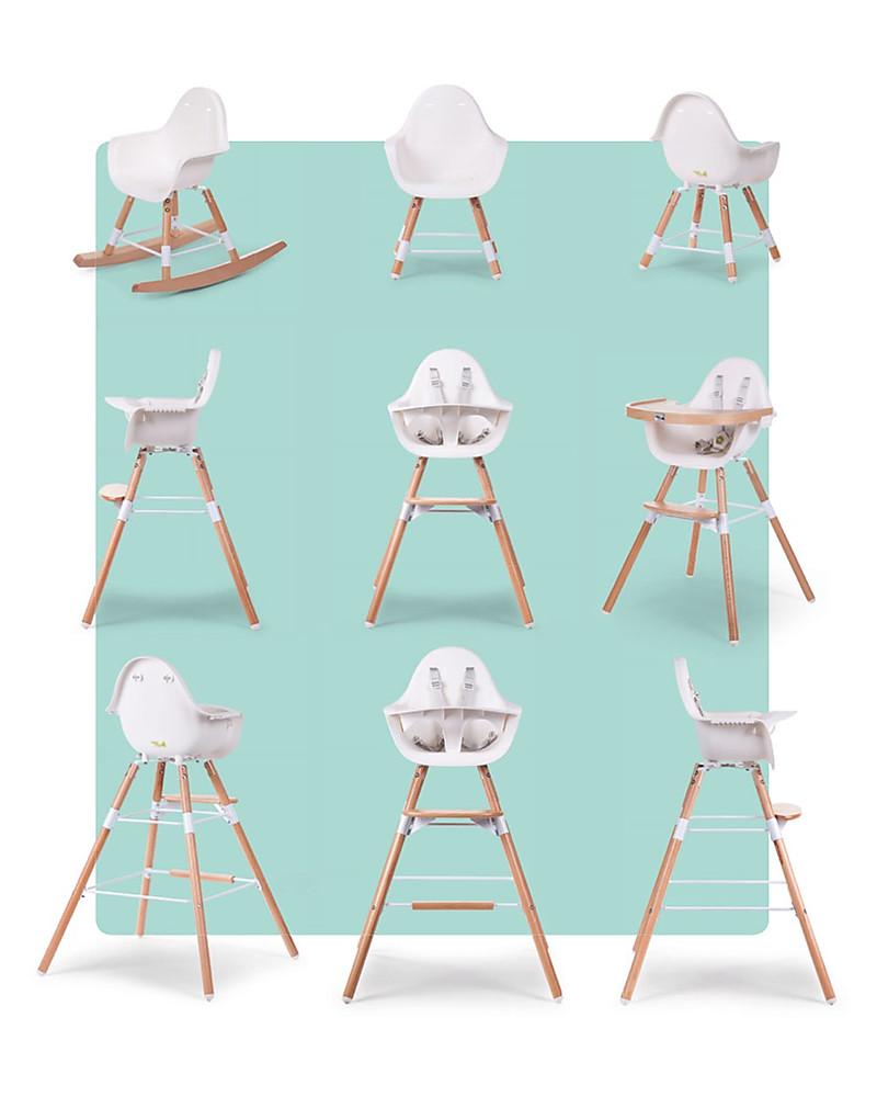 Childwood Evolu 2 Chair, Evolutive High Chair + Kids Chair, White ...