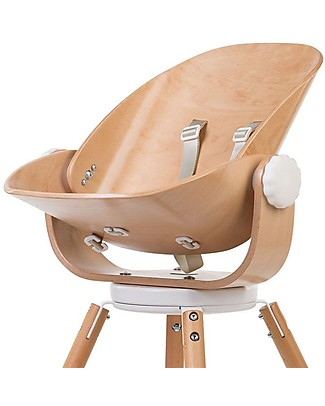 Childwood Evolu Newborn Seat, Natural/White - For Evolu and Evolu ONE.80° High Chair High Chairs