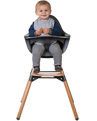 Childwood Evolu ONE.80° Chair, Evolutive High Chair and Kids Chair - Anthracite  – Swivel Seat! High Chairs