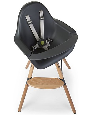 Childwood Evolu ONE.80° Chair, Evolutive High Chair and Kids Chair - Anthracite - Swivel Seat! High Chairs