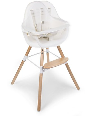 Childwood Evolu ONE.80° Chair, Evolutive High Chair and Kids Chair, White  – Swivel Seat! High Chairs