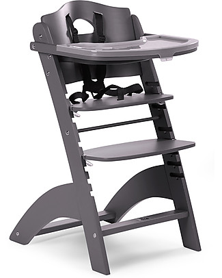Childwood Evolutive Wooden High Chair Lambda 2, Slate Grey – It becomes a normal chair! High Chairs