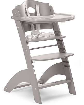 Childwood Evolutive Wooden High Chair Lambda 2, Stone Grey – It becomes a normal chair! High Chairs