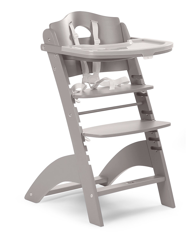 Childwood Evolutive Wooden High Chair Lambda 2 Stone Grey It Becomes A Normal