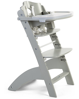 Childwood Evolutive Wooden High Chair Lambda 3, Stone Grey - It becomes a normal chair! High Chairs