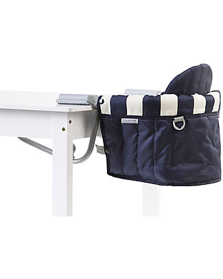 Childwood Foldable Table Hanger Retro, Blue/White Stripes Travel Feeding Chairs