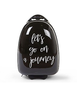 "Childwood Kid Trolley ""Let's go on a journey"" 27 x 39 x 15 cm, Black Travel Bags"