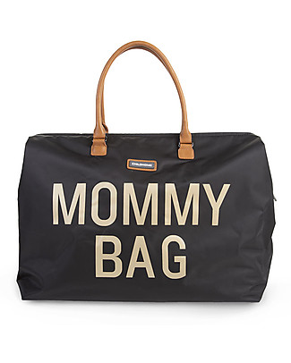 Childwood Mommy Bag, Diaper Bag 55 x 30 x 30 cm, Black and Gold - Includes foldable changing mat! Diaper Changing Bags & Accessories