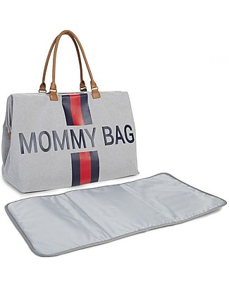 Childwood Mommy Bag, Diaper Bag 55 x 30 x 30 cm, Blue/Red Stripes - Includes foldable changing mat! Diaper Changing Bags & Accessories