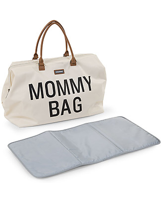 Childwood Mommy Bag, Diaper Bag 55 x 30 x 30 cm, Ivory - Includes foldable changing mat! Diaper Changing Bags & Accessories