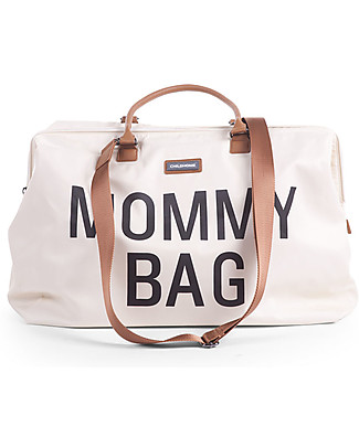 Childwood Mommy Bag, Diaper Bag 55 x 30 x 30 cm, Off-White - Includes foldable changing mat! Diaper Changing Bags & Accessories