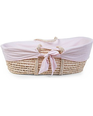 Childwood Moses Basket Cover, 100% cotton - Pink Cribs & Moses Baskets