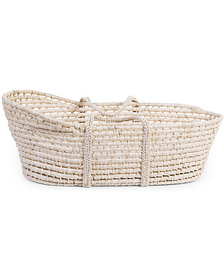 Childwood Moses Basket with Mattress, Corn Husk - 81 x 30 cm Cribs & Moses Baskets