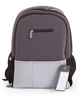 Childwood Neoprene Diaper Back Pack 45 x 32 x 16 cm, Dark Grey - Includes foldable changing mat! Large Backpacks