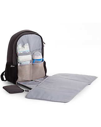 Childwood Neoprene Diaper Back Pack 45 x 32 x 16 cm, Dark Grey - Includes foldable changing mat! null