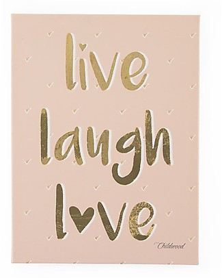 "Childwood Oil Painting ""Live Laugh Love"", 30x40 cm Room Decorations"