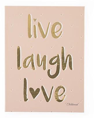 "Childwood Oil Painting ""Live Laugh Love"", 30x40 cm Room Decorations"
