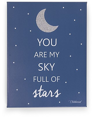 "Childwood Oil Painting ""You are my sky full of stars"", Blue Navy - 30x40 cm Room Decorations"