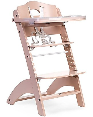 Childwood OUTLET - Evolutive Wooden High Chair Lambda 2, Nude – It becomes a normal chair! High Chairs