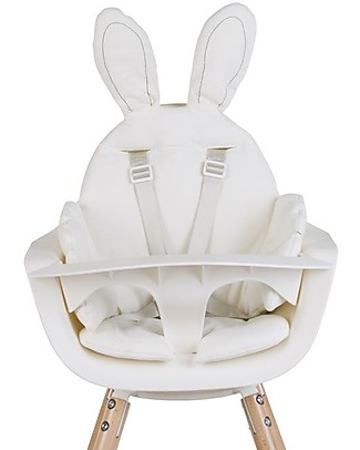 Childwood Rabbit High Chair Cushion, Jersey White null