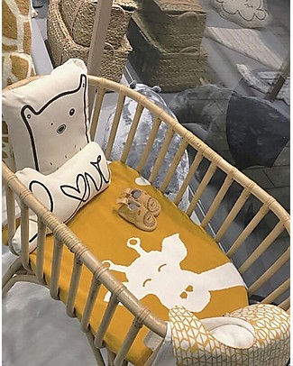 Childwood Rattan Cradle with Mattress, Natural - 90 x 50 x 70 cm Cribs & Moses Baskets