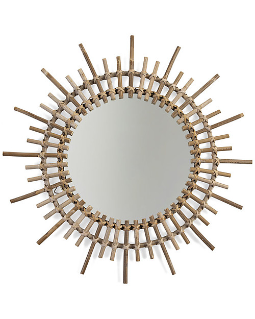 Childwood Rattan Mirror, Natural - 60 x 5 x 60 cm Room Decorations