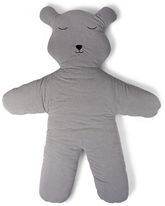 Childwood Teddy Playmat, Grey - 100% Cotton Carpets