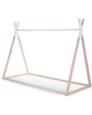 Childwood Tipi Bed Frame, Beech Wood - 200 x 90 cm Single Bed