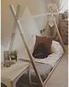 Childwood Tipi Bed Frame, Beech Wood - 200x90 cm Single Bed
