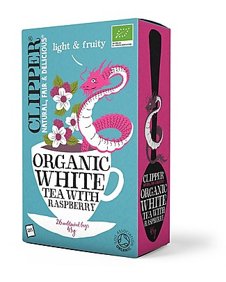 Clipper Organic White Tea with Raspberry - 26 teabags Infusions
