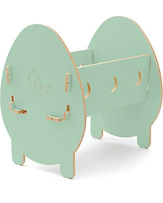 Cocò&Design Bella Cradle, Green Apple - 75x40x33 cm - Poplar wood null