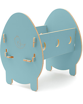 Cocò&Design Bella Cradle, Mulberry Blue - 75x40x33 cm - Poplar wood Cribs & Moses Baskets