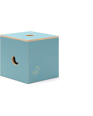 Cocò&Design Duccio Seat and Storage Box, Mulberry Blue - 40x40x40 cm - Poplar wood null