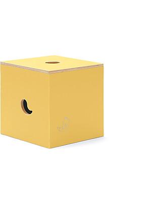 Cocò&Design Duccio Seat and Storage Box, Pear - 40x40x40 cm - Poplar wood Chairs