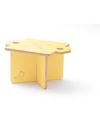 Cocò&Design Modular Stool and Small table Lapo, Pear - 40x40x30 cm - Poplar wood Chairs