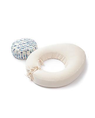 Cocò&Design Multipurpose Cushion Abbracciotto, Blue Blueberry - 60x80x11 cm - Organic cotton and spelled chaff Cushions