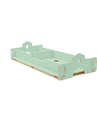 Cocò&Design Nanni Bed that Grows, Green Apple - 180x80x22 cm - Poplar wood Montessori Beds