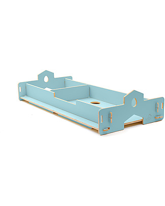 Cocò&Design Nanni Bed that Grows, Mulberry Blue - 180x80x22 cm - Poplar wood Montessori Beds