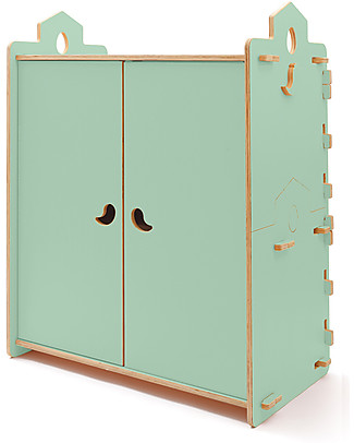 Cocò&Design Tana Wardrobe, Green Apple - 110x60x120 cm - Poplar wood Dressers