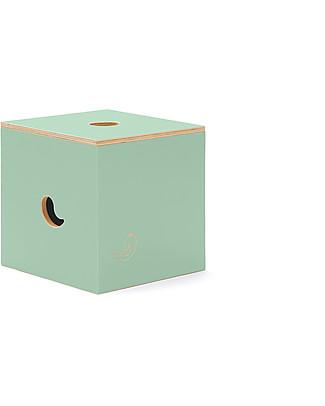 Cocò&Design Duccio Seat and Storage Box, Green Apple - 40x40x40 cm - Poplar wood Chairs