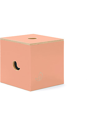 Cocò&Design Duccio Seat and Storage Box, Peach - 40x40x40 cm - Poplar wood null