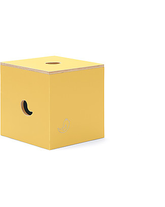 Cocò&Design Duccio Seat and Storage Box, Pear - 40x40x40 cm - Poplar wood null